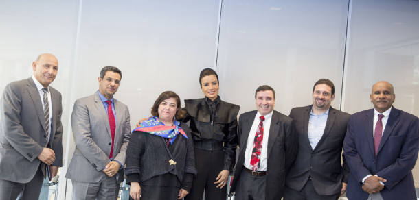 HH Sheikha Moza meets with Arab Scientist at Harvard and MGH